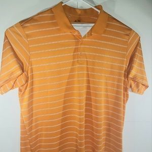 Adidas Puremotion Orange Golf Shirt Size XXL